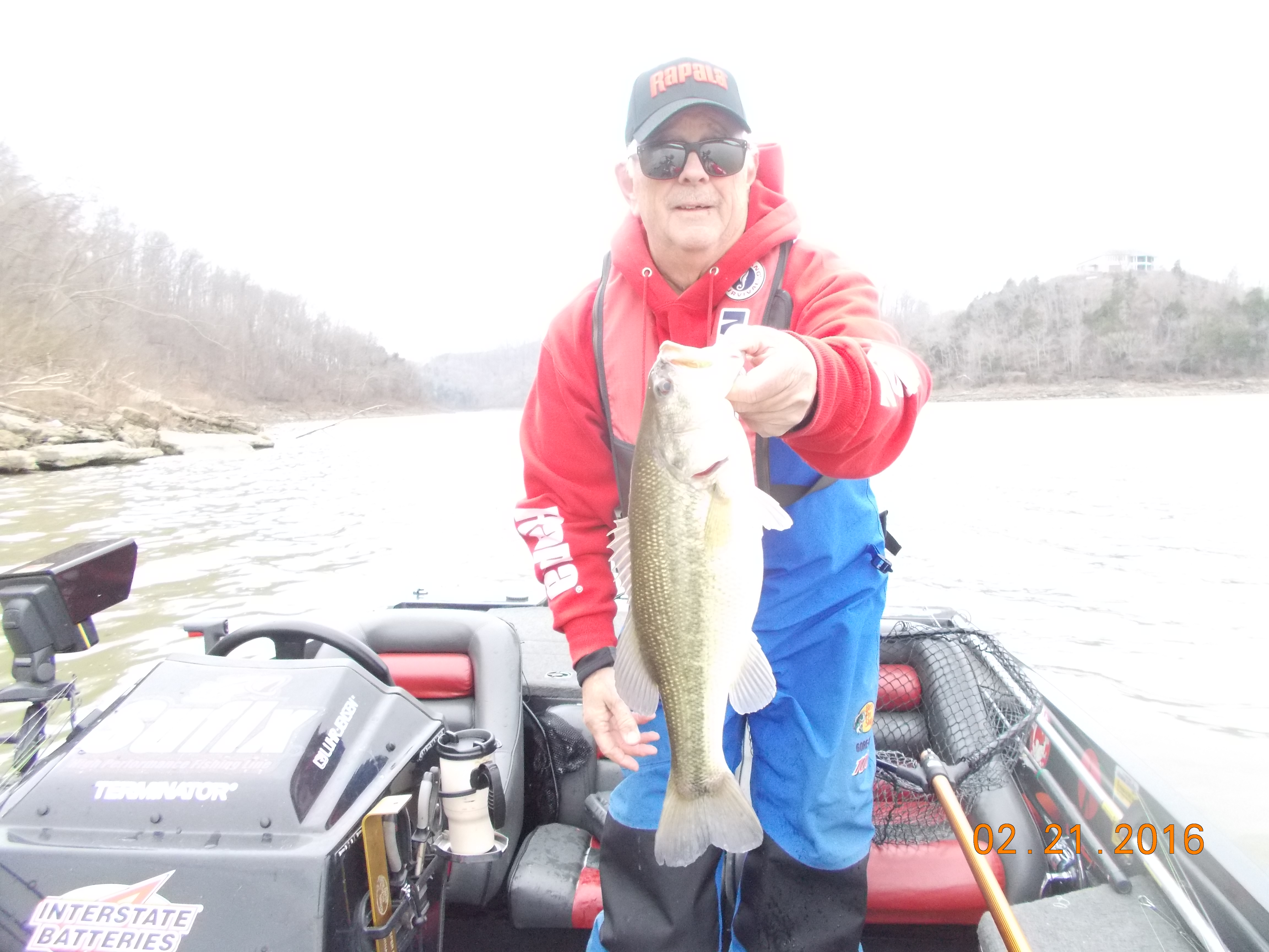 Center hill 2 22 2016 tennessee bass guides for Center hill lake fishing report